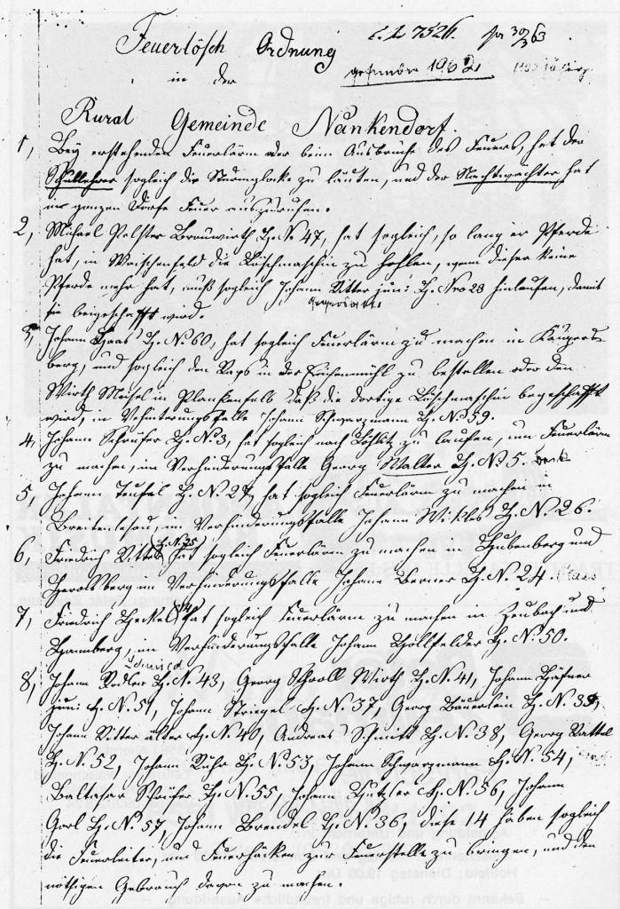 Feuerlöschordnung von 1863