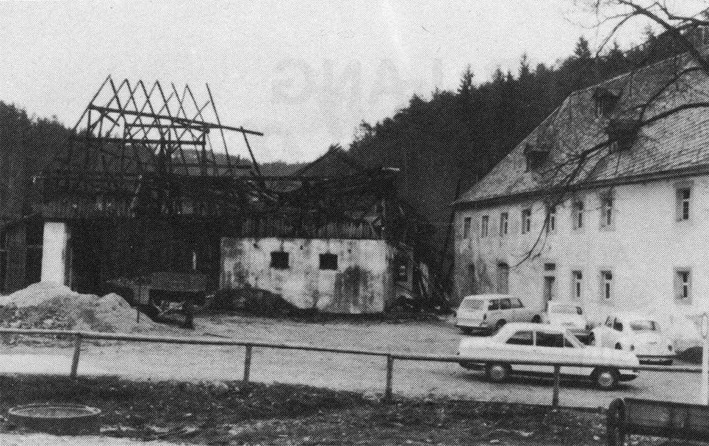 1975 Großbrand Konrad Sebald