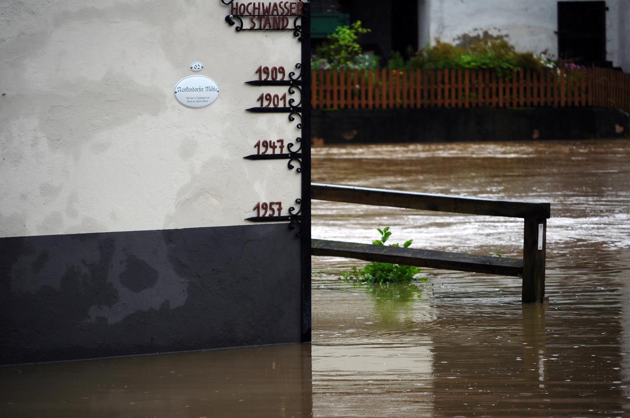 Der Hochwasserstand der Nankendorfer Mühle