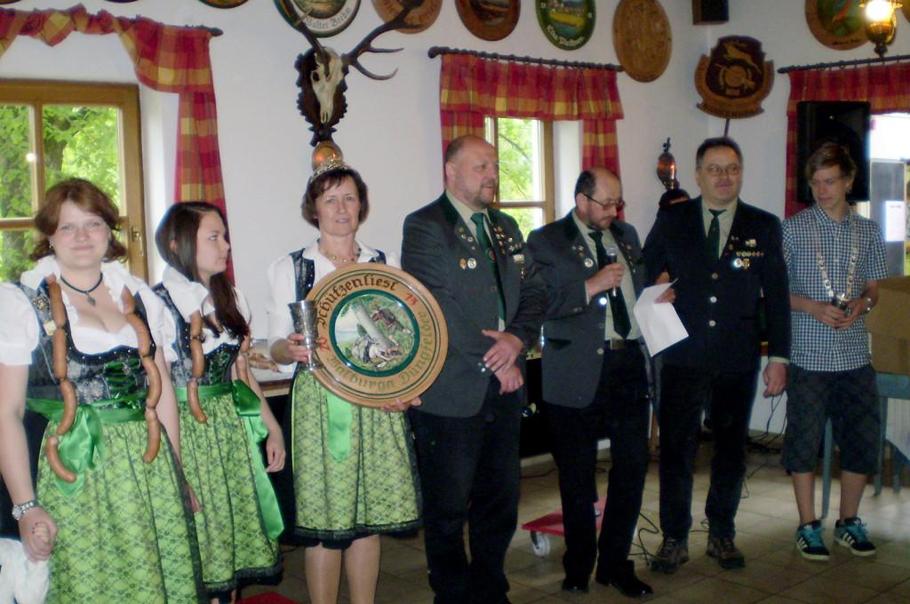 Königsproklamation 2013 des Schützenverein Hirschensprung