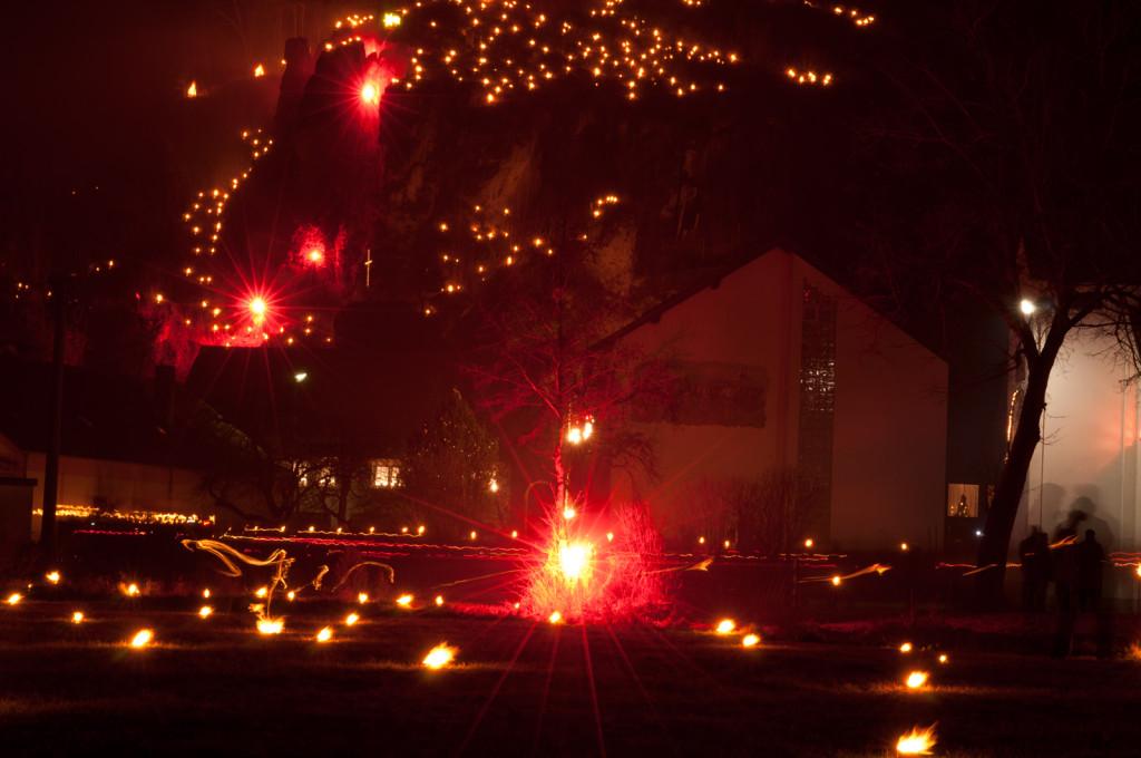 Lichterprozession und Jahresabschluss 2013