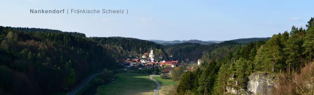 Panorama-Ansicht auf Nankendorf im April 2014