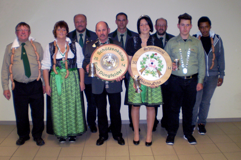 Königsproklamation 2014 des Schützenverein Hirschensprung