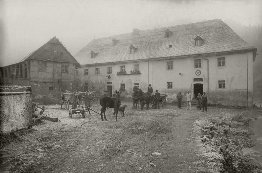 Historische Ansichten - Die Nankendorfer Mühle in den 1850er Jahren