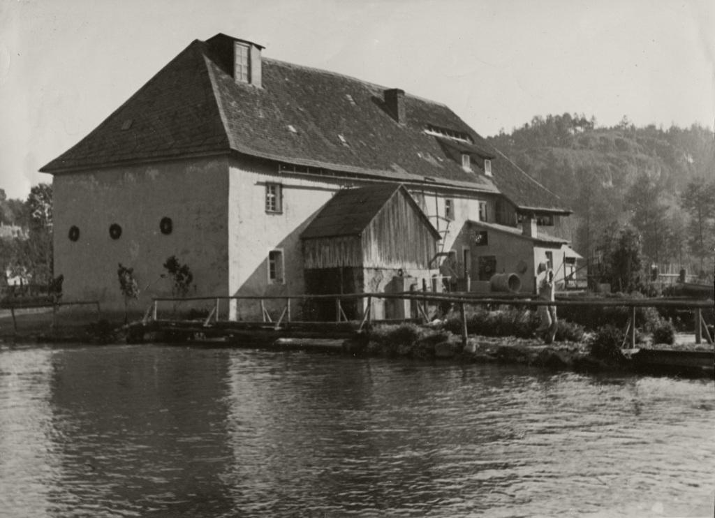 Historische Ansichten - Die Nankendorfer Mühle in den 1950er Jahren