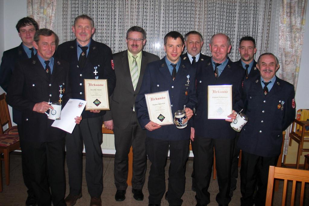 Freiwillige Feuerwehr Ehrungen Jahr 2015
