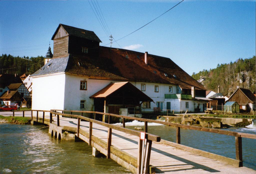 Historische Ansichten - Nankendorfer Mühle im Jahr 1988 aus Sicht vom Auberg