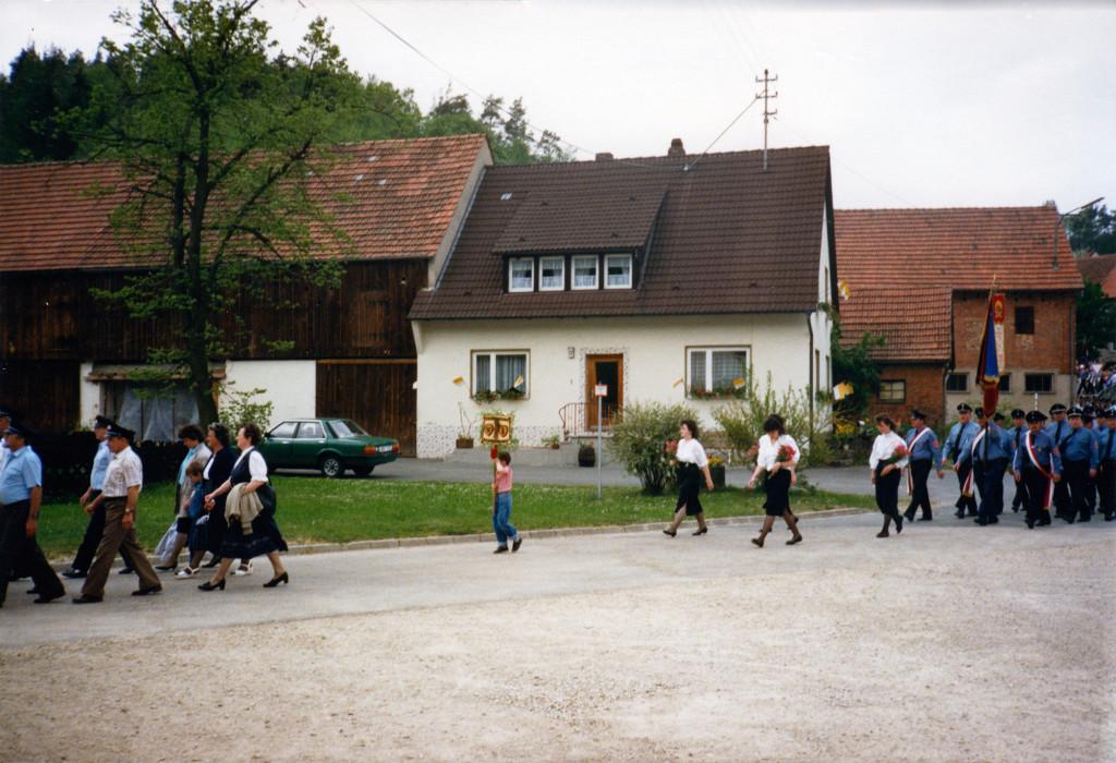 Historische Ansichten - 1988 die Nankendorfer Feuerwehr mit einer gemeinsamen Übung mit der Bundewehr in Nankendorf