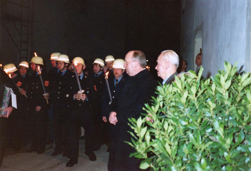 Historische Ansichten - 1989 Altbürgermeister Josef Sebald anlässlich seines 80ten Geburtstags in Nankendorf