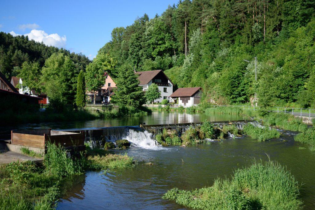 Das Wehr an der Nankendorfer Mühle